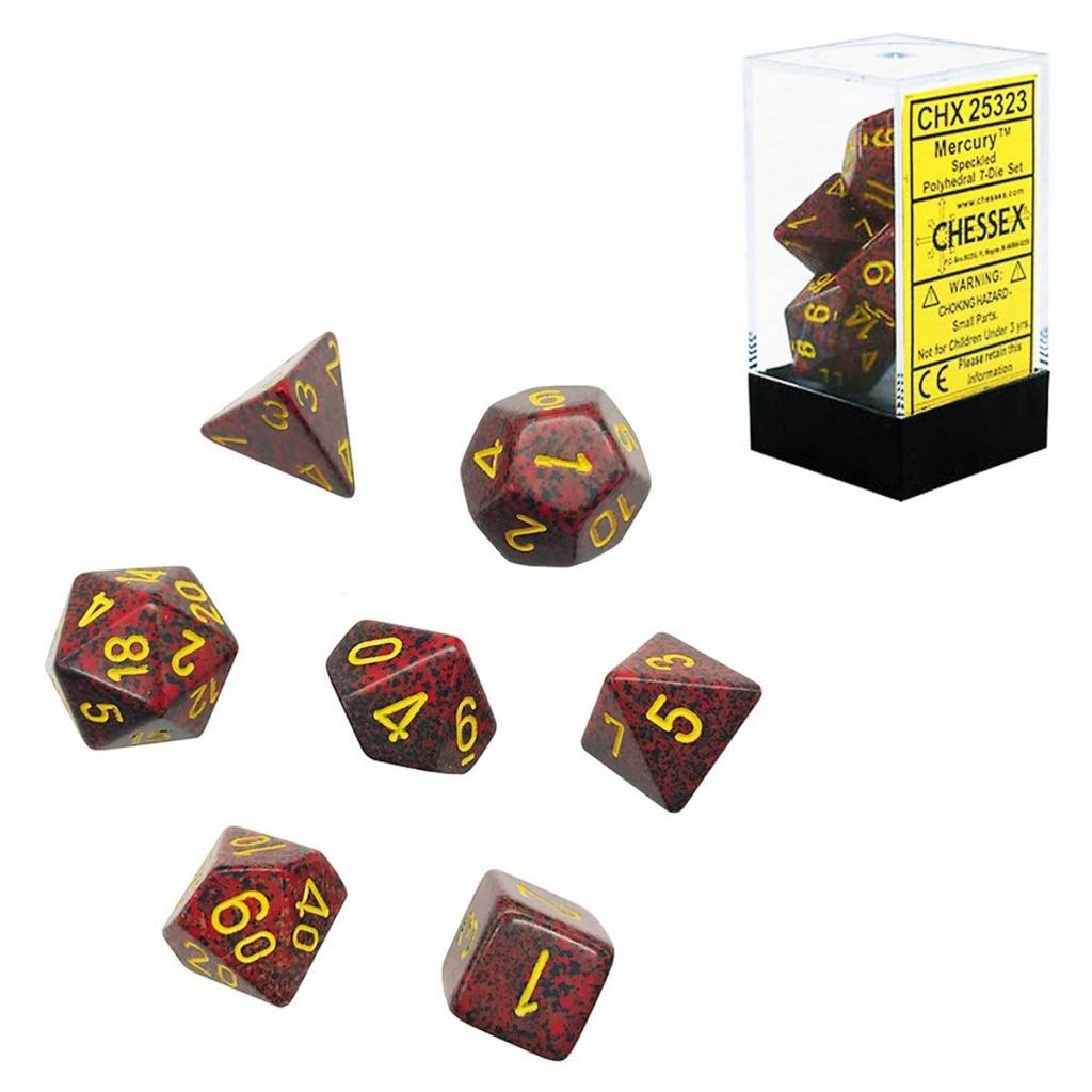 25323: mercury 7 dice set