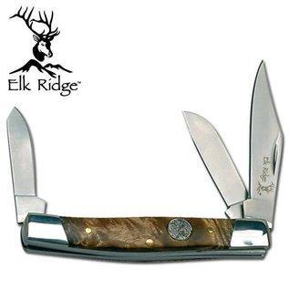 Elk Ridge KNI-ER043BW-3 Elk Ridge Stockman 3 Blade