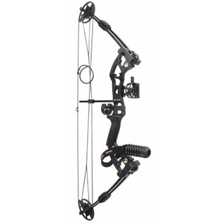 "SR Archery Compound Bow SR Archery Fuzion 34"" Kit 55# Right Hand Black"