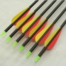 """SR Archery Made Arrow Sr Carbon 30"""" 3"""" Vanes Ea"""