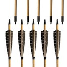 Redzone Made Arrow Wood Redzone Feather 11/32 40-60# (Box 6)