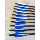 """SR Archery Made Arrow Sr Aluminium 50-60# 30"""" Vanes Ea"""