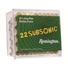 Remington AMMO 22LR Remington Subsonic 38GR 1050fps HP (100 BOX)