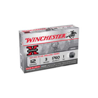 "Winchester AMMO 12G Super X Rifled Slug 3"" 28Gm 1760Fps (Box 5)"