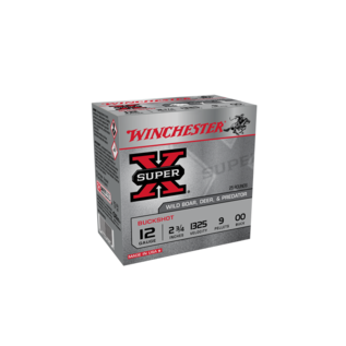 "Winchester AMMO 12g Lead Winchester Buckshot OOBuck 2-3/4"" 9Pellet (Box 25)"