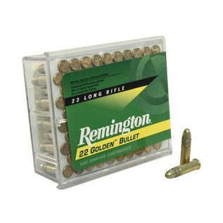 Remington AMMO 22LR Remington Golden Bullet Soild 40GR 1255fps (100 BOX)