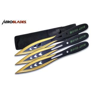 Aeroblades Knife M44443GD Aeroblades 171mm Throwers 3pc
