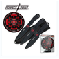 Perfect Point Knives K-PP-075-3BK Perfect Point Dragon Black Throwers & Target Set