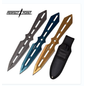 Perfect Point Knives K-PP-120-3 Perfect Point Sliver Blue And Yellow Throwing Knives