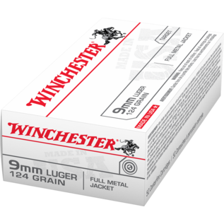 Winchester AMMO 9MM Luger - Winchester 124Gr FMJ (Box 50)