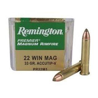 Remington AMMO 22WMR - Remington Magnum Rim 33Gr AccuTip  (50 BOX)
