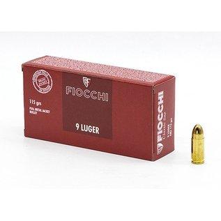 Fiocchi Ammo 9mm Luger Fiocchi 115Gr FMJ (Box 50)