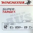 "Winchester AMMO 12G Lead Aus Super Target 1250 7.5 2-3/4"" 28Gm (Box 25)"