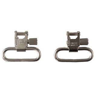 "Uncle Mikes Sling - Gun QD Nickel Super Swivel 1"" Loop Tri-Lock Set 1093-2"