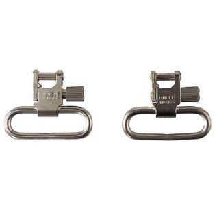 """Uncle Mikes Sling - Gun QD Nickel Super Swivel 1"""" Loop Tri-Lock Set 1093-2"""