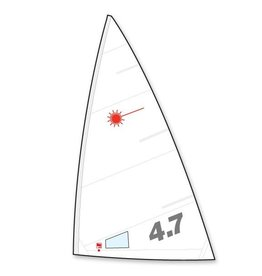 LASER PERFORMANCE LASER 4.7 FOLDED NORTH SAIL LP94112 (BATTENS NOT INCLUDED) *NOT CURRENTLY AVAILABLE*