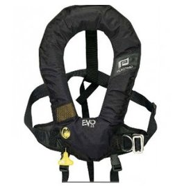 PLASTIMO PLASTIMO EVO HYDROSTATIC HAMMAR INFLATE LIFE JACKET W/ HARNESS (CROTCH STRAP NOT INCLUDED) BLACK