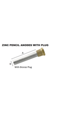 RELIANCE ZINC PENCIL ANODE WITH PLUG 1/4""