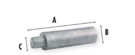 """RELIANCE Anode Engine, 2"""" X 1/4"""""""