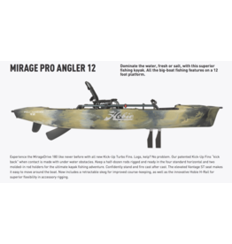 HOBIE® HOBIE® MIRAGE® PRO ANGLER SINGLE 12' KAYAK 2020, Camo, 12