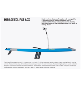 "HOBIE® HOBIE MIRAGE ECLIPSE STANDUP BOARD 10.5"" BLUE *NEW*"