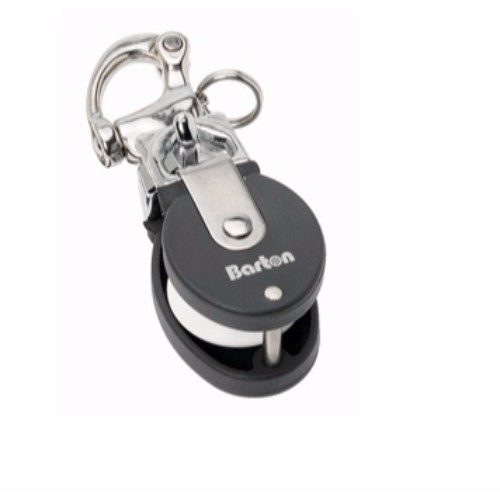 BARTON BARTON SNATCH BLOCK MINI SS SNAPSHACKLE TO 12MM LINE