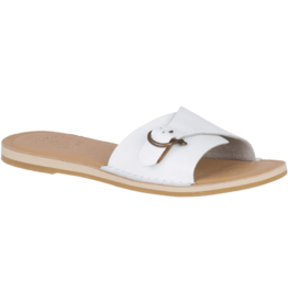 SPERRY SPERRY Seaport Slide Leather Sandal - White (WOMEN'S)