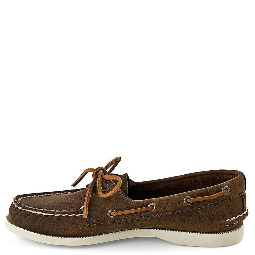 SPERRY SPERRY AUTHENTIC ORIGINAL DISTRESSED BROWN BOAT SHOE (WOMEN'S)