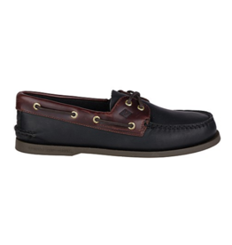 SPERRY SPERRY AUTHENTIC ORIGINAL BLACK/AMARETTO BOAT SHOE (MEN'S)