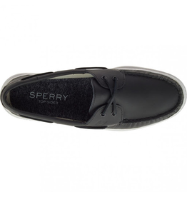 SPERRY SPERRY AUTHENTIC ORIGINAL 2-EYE RAINCOAT BLACK BOAT SHOE (MEN'S)
