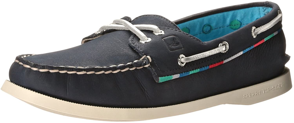 SPERRY A/O NAVY SATIN PIPING (WOMEN'S) *CLEARANCE*