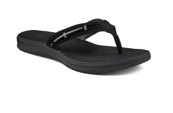 SPERRY SPERRY SEABROOK WAVE BLACK PATENT THONG FLIP FLOP (WOMEN'S) *CLEARANCE*