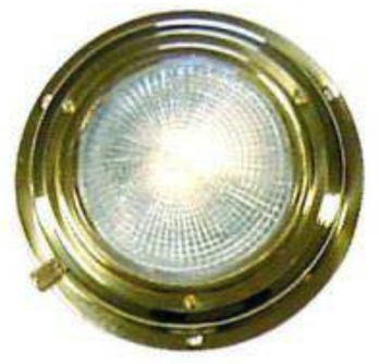 "AAA BRASS XENON DOME LIGHT 4"" WHITE *CLEARANCE*"