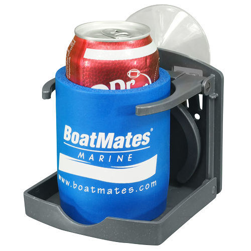 BOATMATES BOATMATES FOLDING DRINK HOLDER W/ SUCTION GRAPHITE (EACH) *CLEARANCE*