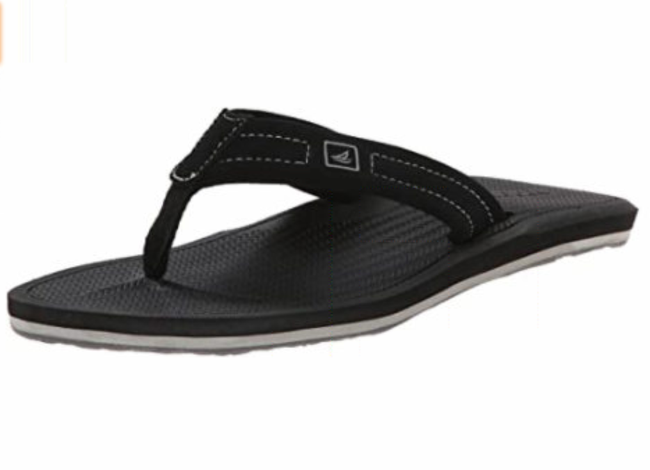 SPERRY SPERRY SHARKTOOTH BLACK THONG (MEN'S) *CLEARANCE*