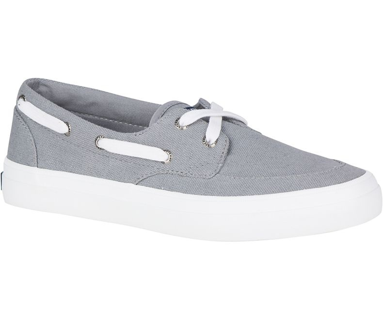 SPERRY Sperry Crest Boat Shoe Grey (WOMEN'S)