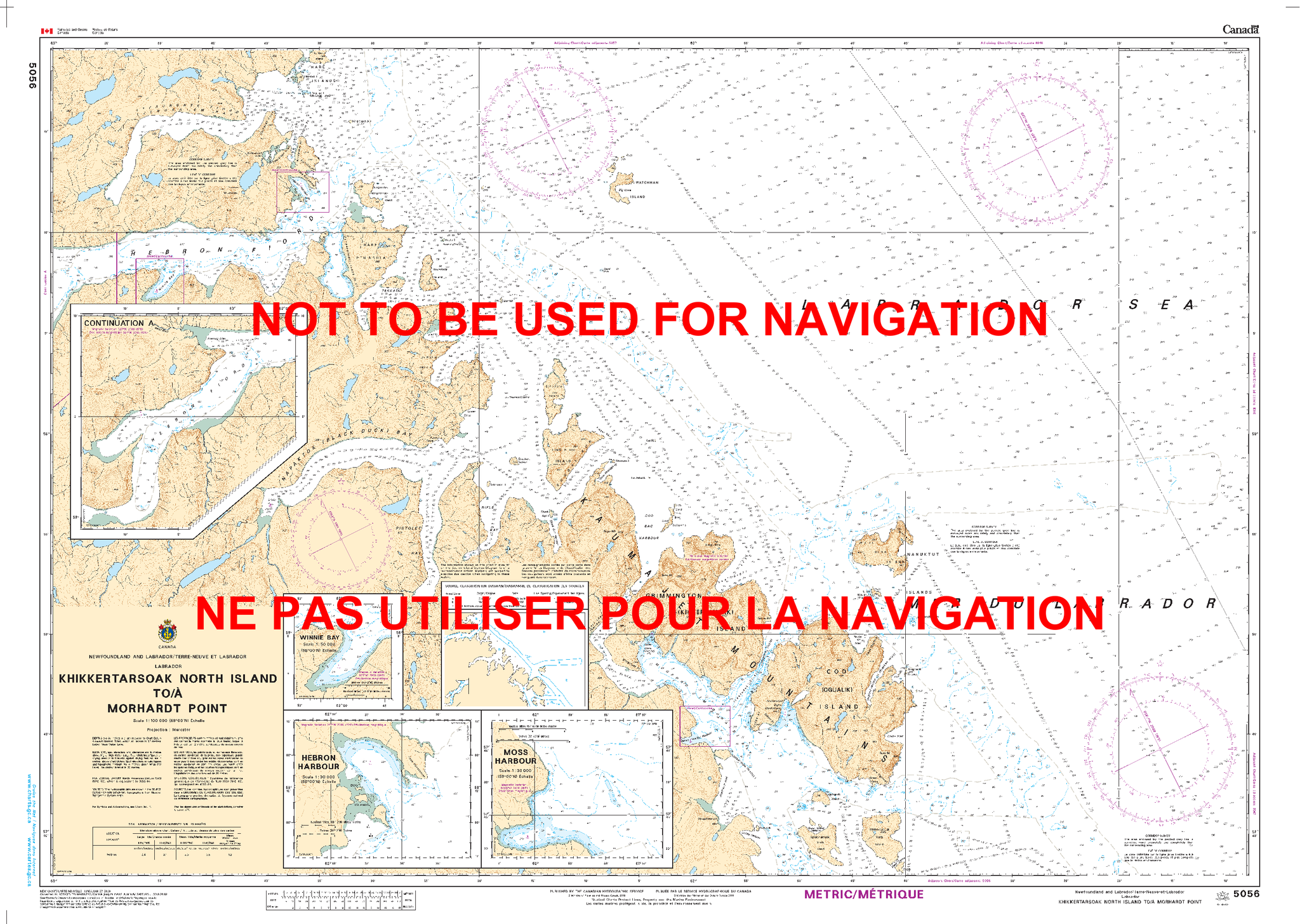 CANADIAN HYDROGRAPHIC SERVICE CHART 5056