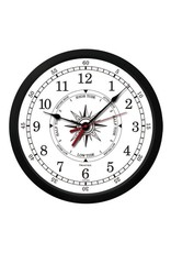 TRINTEC TRINTEC 'ATLANTIC' WHITE TIDE / TIME CLOCK 9""