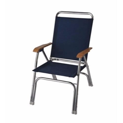 GARELICK GARELICK THE ORIGINAL EEz-In HIGH BACK DECK CHAIR - ANODIZED ALUMINUM FRAME NAVY