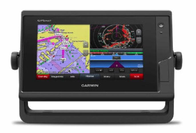 """GARMIN GARMIN GPSmap 7"""" CHARTPLOTTER TOUCHSCREEN 742 W/ BLUECHART G3 MAP"""