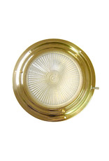 "AAA BRASS XENON DOME LIGHT 5"" RED/WHITE"