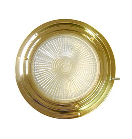 """AAA BRASS XENON DOME LIGHT 5"""" RED/WHITE"""