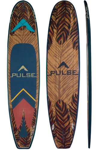 "PULSE PULSE TRADITIONAL 11""4"" STANDUP PADDLEBOARD PACKAGE (FEATHER) 2018"