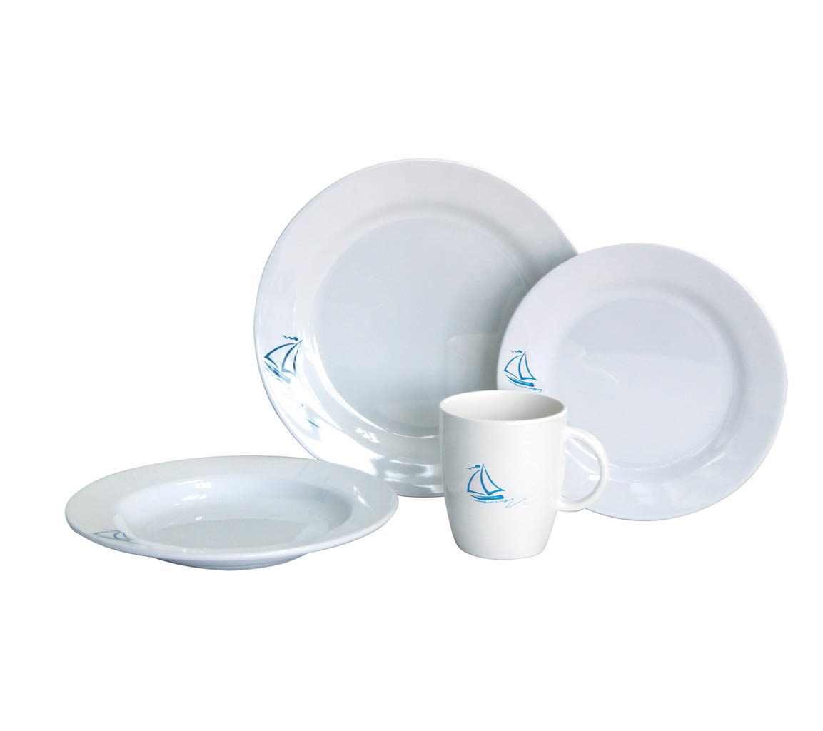 GALLEY DINNER PLATE SET SAIL SERIES (16 PIECE)