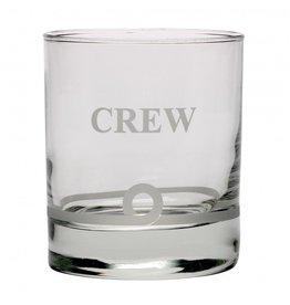 NAUTICALIA WHISKEY TUMBLER GLASS 'CREW'