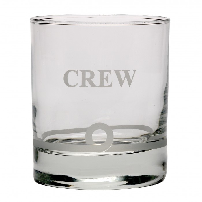 NAUTICALIA WHISKEY TUMBLER GLASS 'CREW'