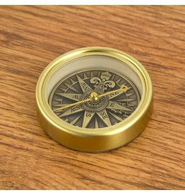 NAUTICALIA BRASS ANTIQUE COMPASS ROSE
