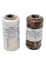 BREWER WAXED POLYESTER WHIPPING TWINE (4 OZ) W/ # 14 NEEDLE<br /> 100LB TEST ( NATURAL )