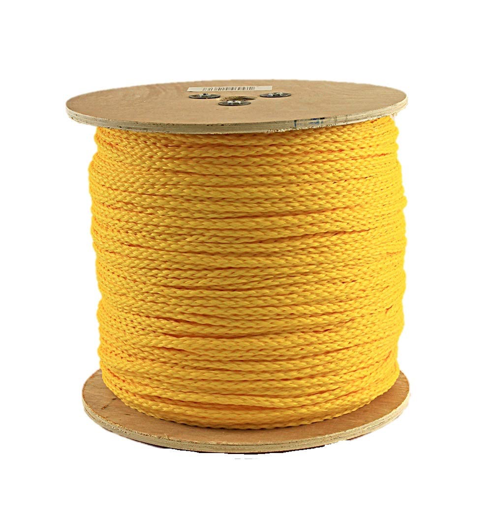 "FLOATING HOLLOW BRAID POLYPROPYLENE 1/4"" YELLOW"