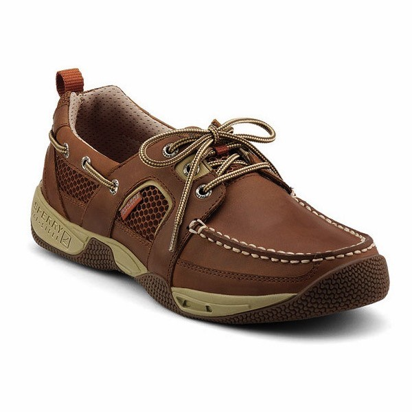 SPERRY SPERRY SEAKITE SPORTMOC TAN PERFORMANCE SHOE (MEN'S)